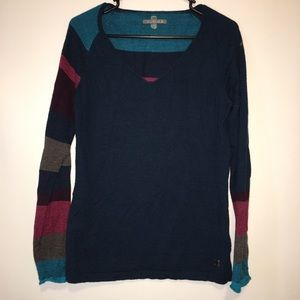 Smartwool Comfy Sweater Striped Sleeves